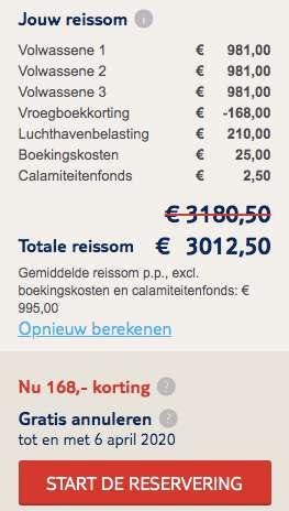 7 dagen Curaçao €995