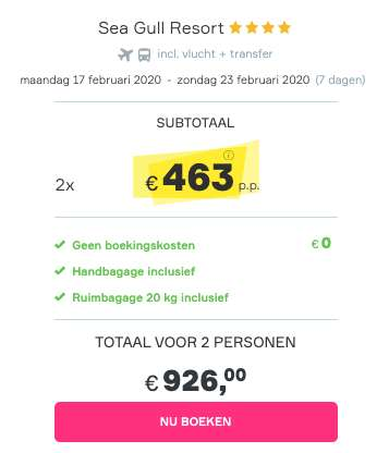 7 dagen Egypte €463