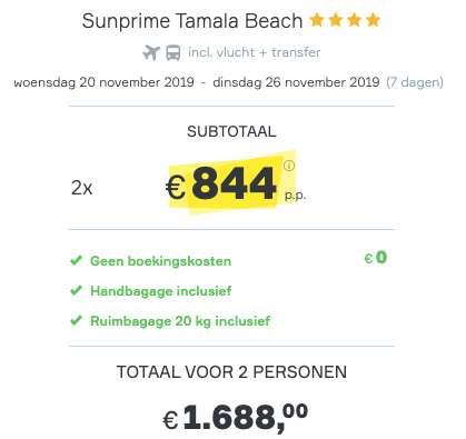 7 dagen Gambia €844