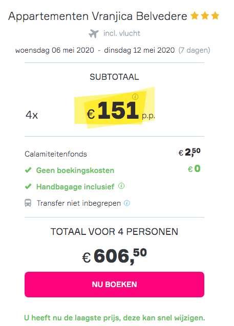 7 dagen Kroatieë voor maar €151!