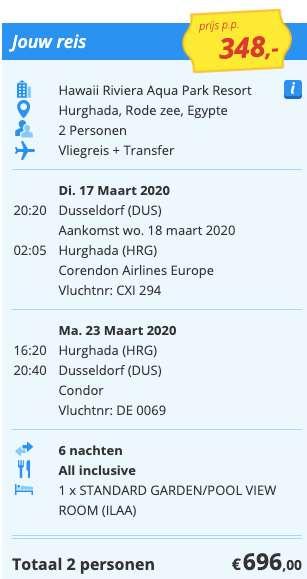 7 dagen naar Egypte voor €348