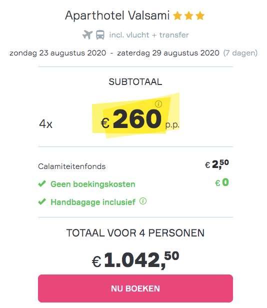 7 dagen Rhodos €260