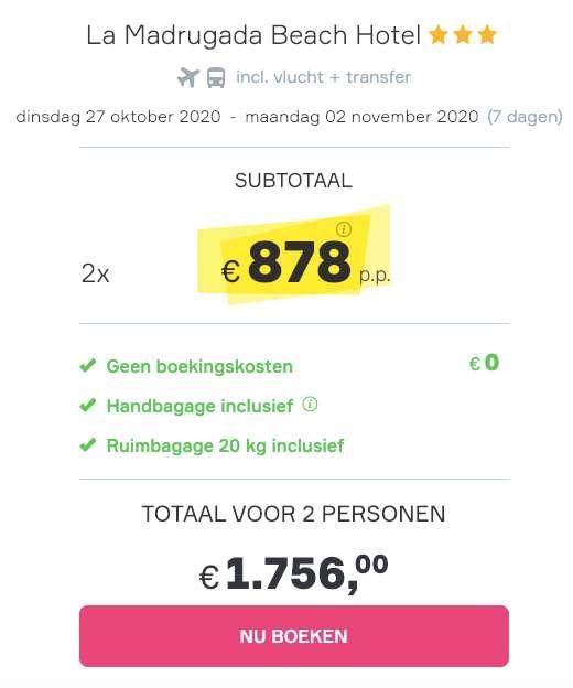 7 dagen Zanzibar = €878