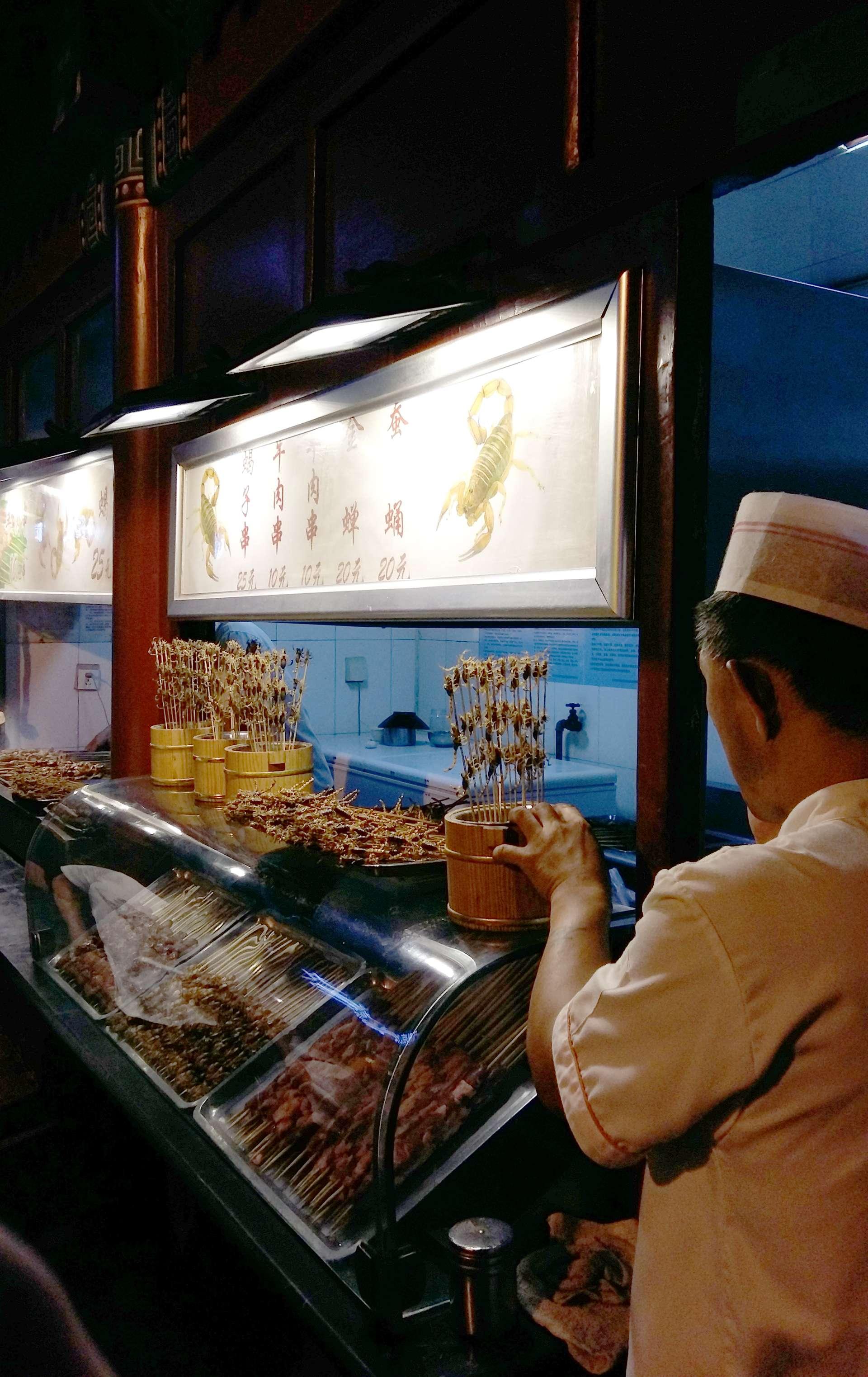 China, Beijing, Wangfujing Snack Street
