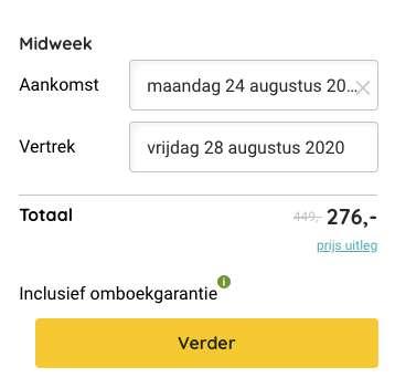 Boekingsvoorbeeld weflycheap deal