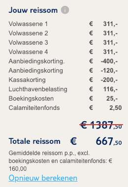 8 dagen Algarve = €160