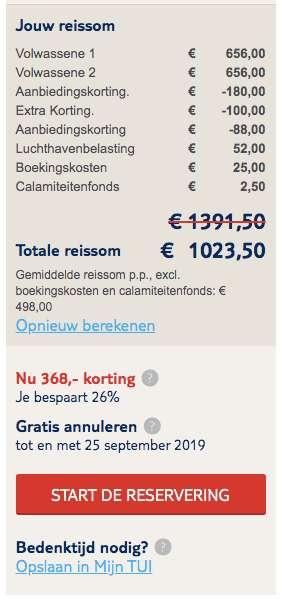 8 dagen Andalusië voor €498
