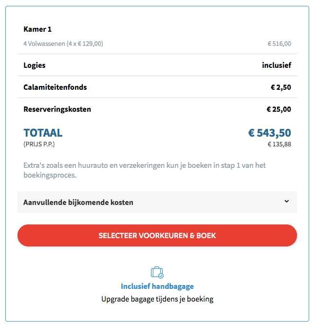 8 dagen Benidorm €129