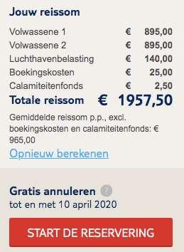 8 dagen Curaçao €965