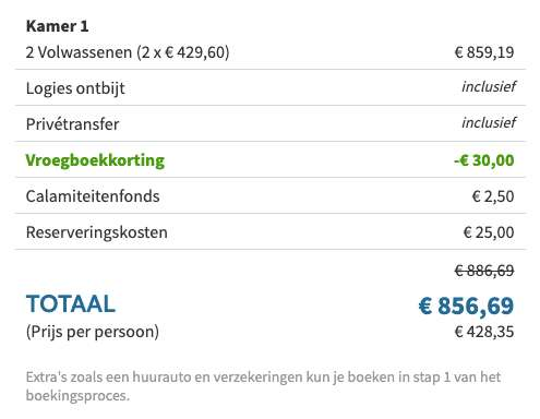 8 dagen Cyprus €429