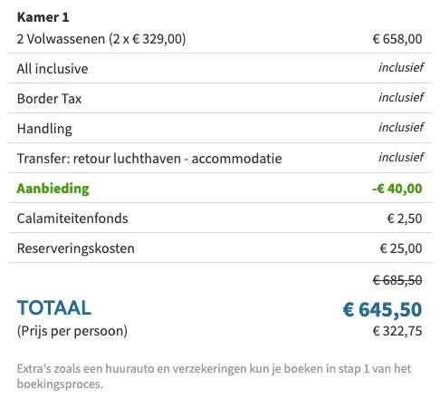 8 dagen Egypte €309