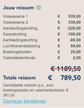 8 dagen Egypte = €391