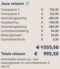 8 dagen Egypte €454