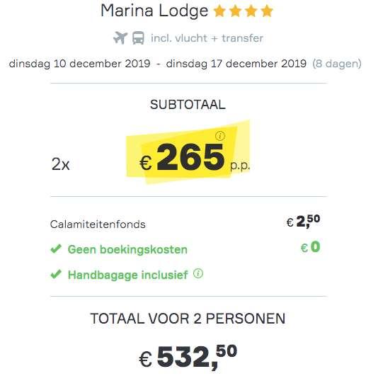 8 dagen Egypte voor €265