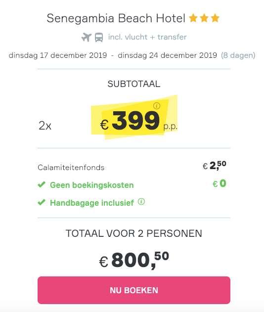 8 dagen Gambia = €399