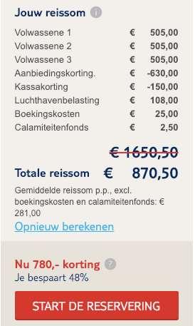 8 dagen Gran Canaria = €281