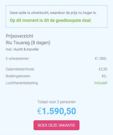 8 dagen Kaapverdië €794