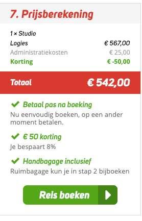8 dagen Lanzarote = €271