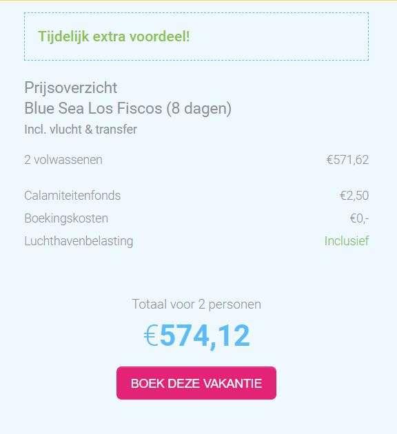 8 dagen Lanzarote voor €289