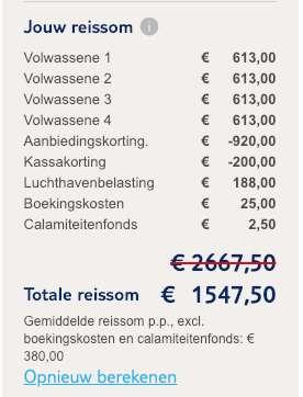 8 dagen Lapland = €380