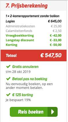 8 dagen Madeira €260