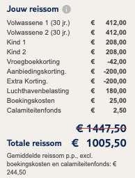 8 dagen Mallorca €245