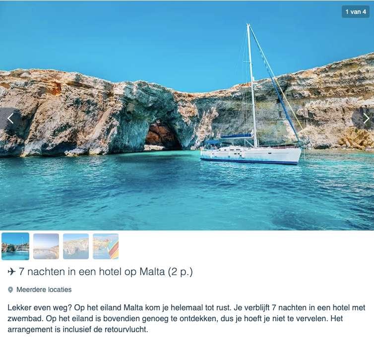 8 dagen Malta vanaf €1