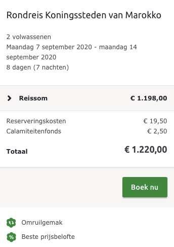 8 dagen Marokko €599