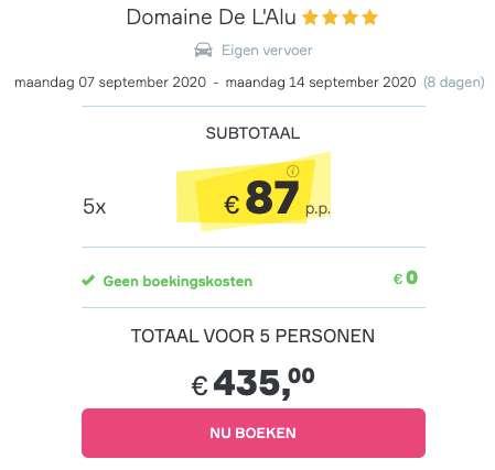 8 dagen naar België voor €87
