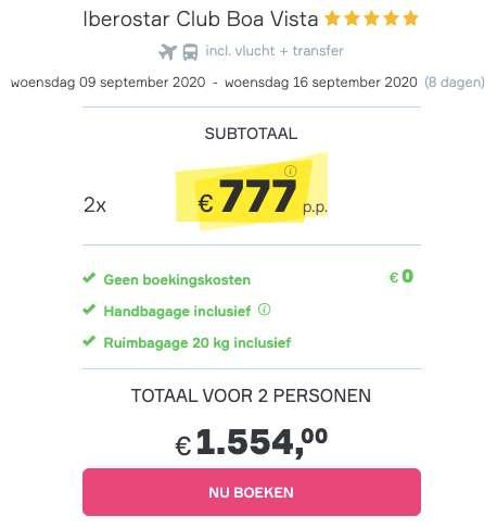8 dagen naar Kaapverdië voor €777