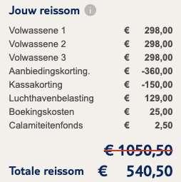 8 dagen naar Spanje voor €171
