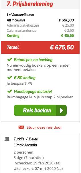 8 dagen naar Turkije voor €324
