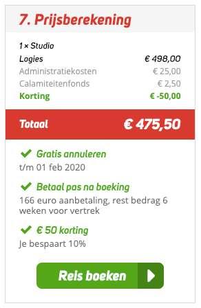 8 dagen Rhodos = €225