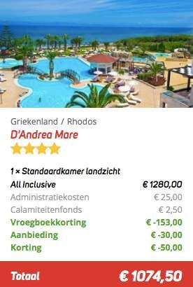 8 dagen Rhodos €537