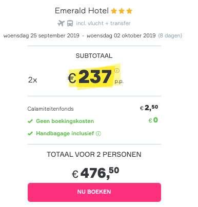 8 dagen Rhodos voor €237