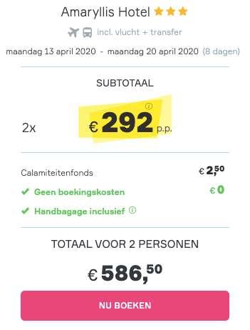 8 dagen Santorini €292