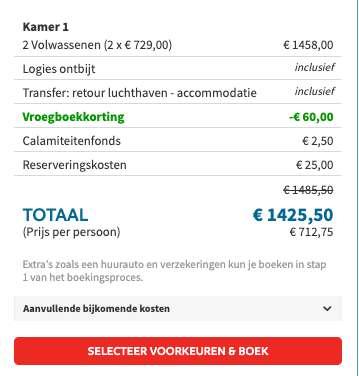 8 dagen Santorini €699