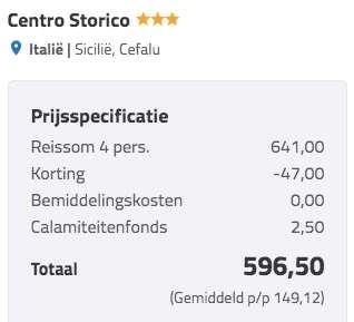 8 dagen Sicilië €149