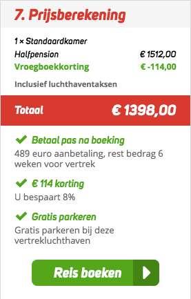 8 dagen Tenerife voor €699