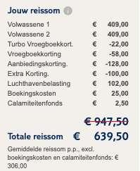8 dagen Turkije €306