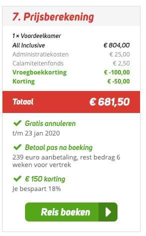 8 dagen Turkije = €327