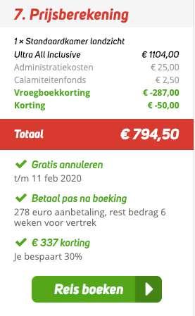 8 dagen Turkije = €384