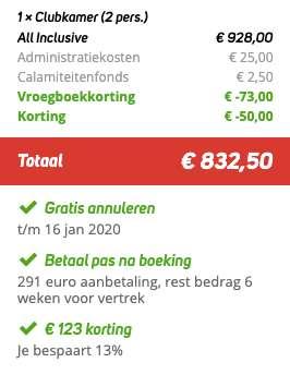 8 dagen Turkije €416