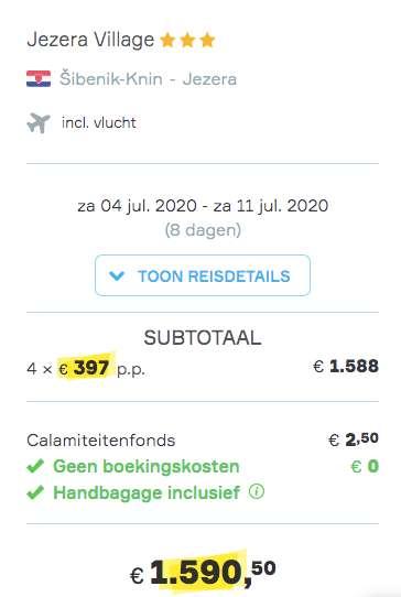 8dagen naar Kroatië voor €397