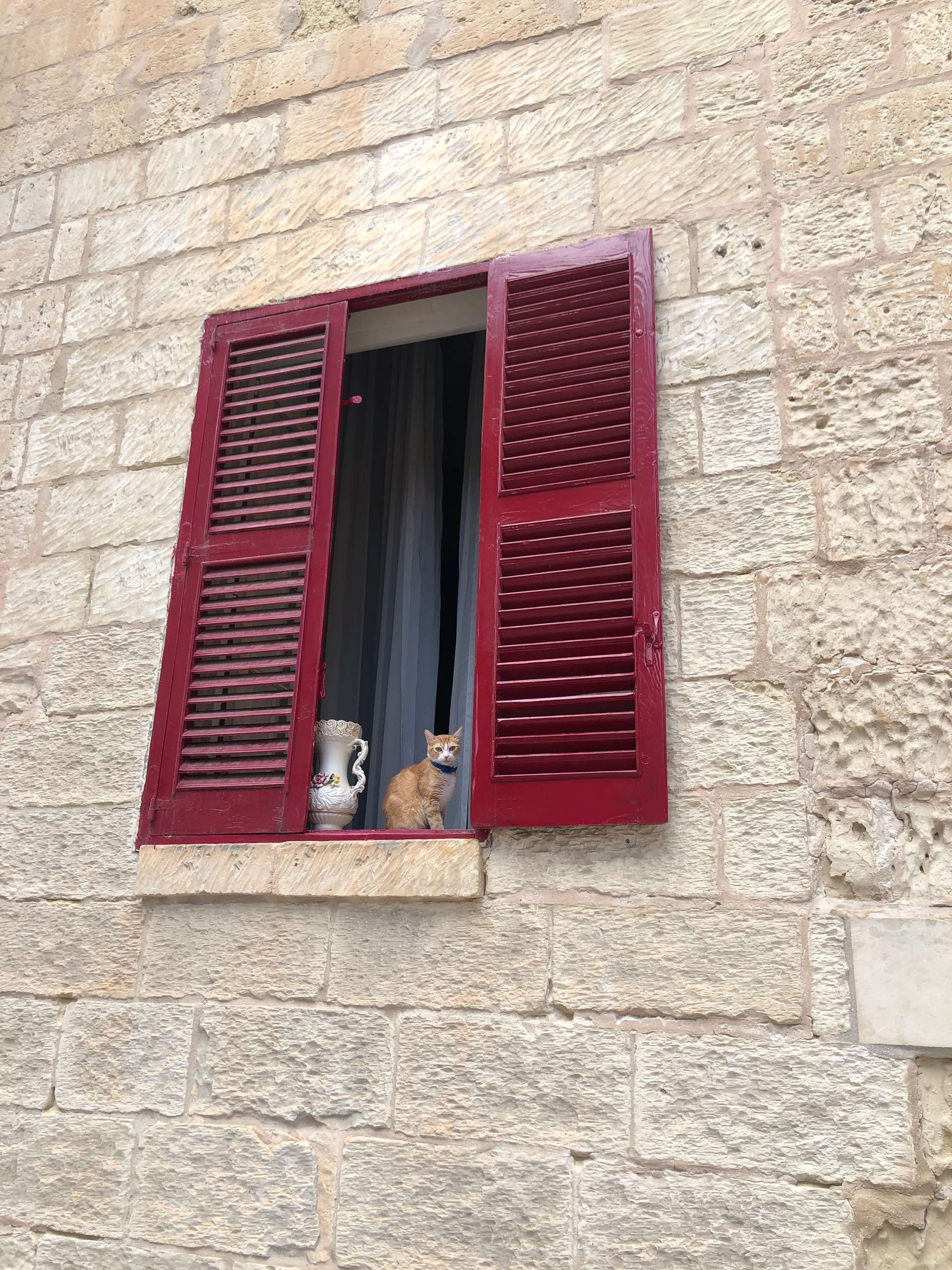 Sfeervolle typische luiken in Mdina