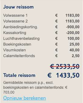 9 dagen Cuba = €703
