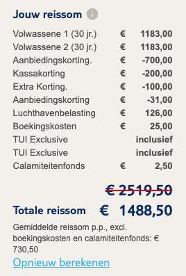 9 dagen Curaçao €730
