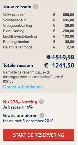 9 dagen Curacao voor €607