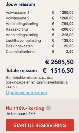 9 dagen Curaçao voor €744
