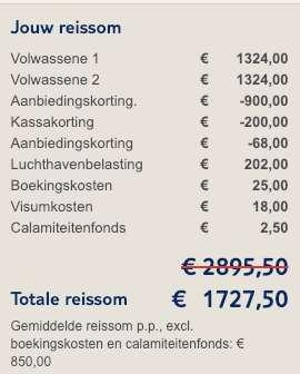 9 dagen DR = €850